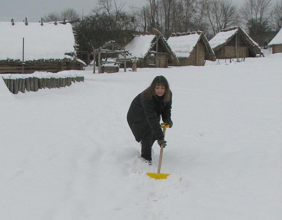 Návštěvníci skanzenu se nebudou brodit sněhem.
