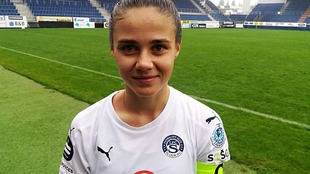 Kapitánka Slovácka Eliška Janíková pomohla celku z Uherského Hradiště k důležité domácí výhře nad Plzní.