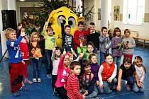 Maskot Citron vyučoval děti, proč jíst ovoce a zeleninu