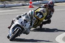 V neděli se ve Starém Městě uskutečnil 12. ročník motocyklových závodů Slovácký okruh o cenu Bohumila Kováře.  Na snímku Jan Pospíšil z domácího Motosportklubu Staré Město (č. 58) v kategorii Volná do 125 SP.