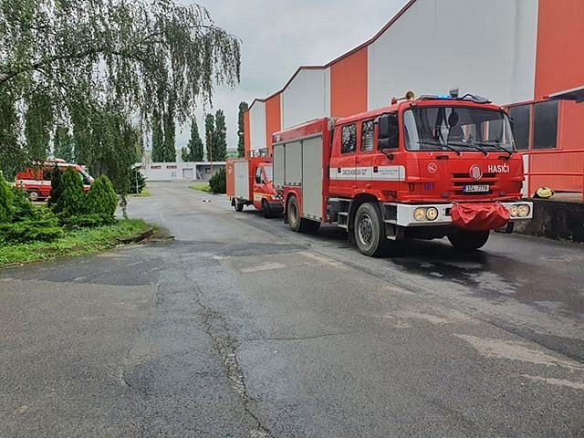 V Nivnici na Uherskohradišťsku došlo k úniku většího množství čpavku.