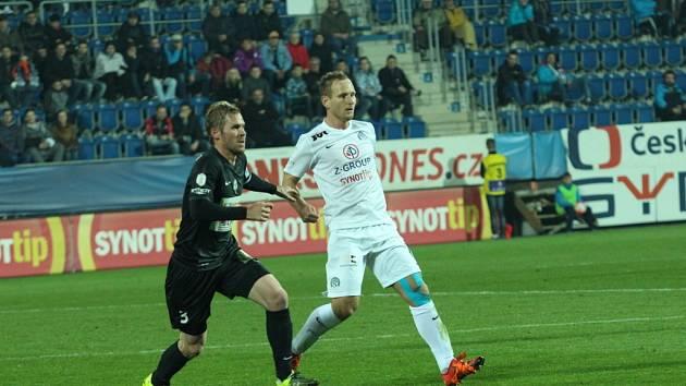FC Slovácko – Slovan Bratislava 2:1 (0:0). Na snímku je střelec vítězné branky Slovácka Jiří Valenta.