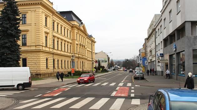 Všehrdova ulice v Uherském Hradišti