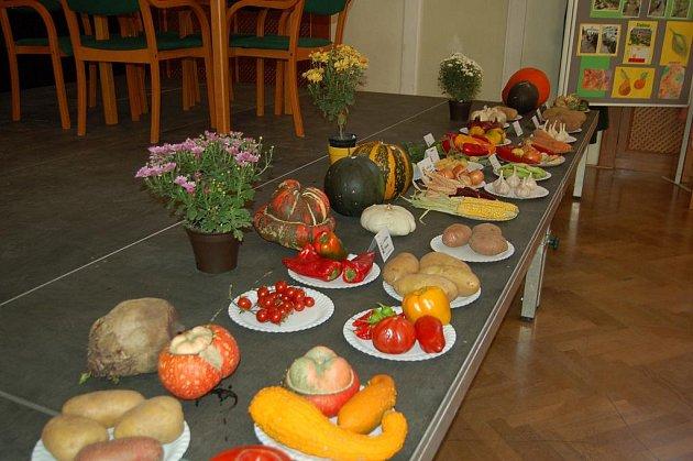 Výstava ovoce a zeleniny v uherskohradišťské Redutě.