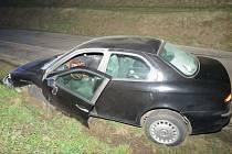 Dopravní nehodu u Mistřic v sobotu 27. února způsobil opilý řidič Alfy Romeo.