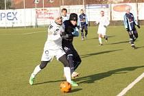 1. FC Slovácko - Nitra. Obránce Slovácka Lukáš Malý (č.3)