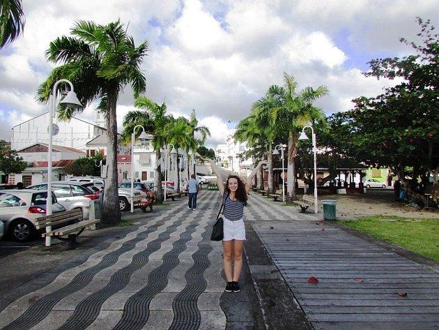 Hradišťanka Sabina Presová na Martiniku.