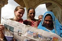 Slovácký deník v straré pevnosti ve měste Agra