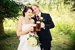 Soutěžní svatební pár číslo 87 - Jana a Milan Drobňákovi z Moravského Berouna obsadili 2. místo.