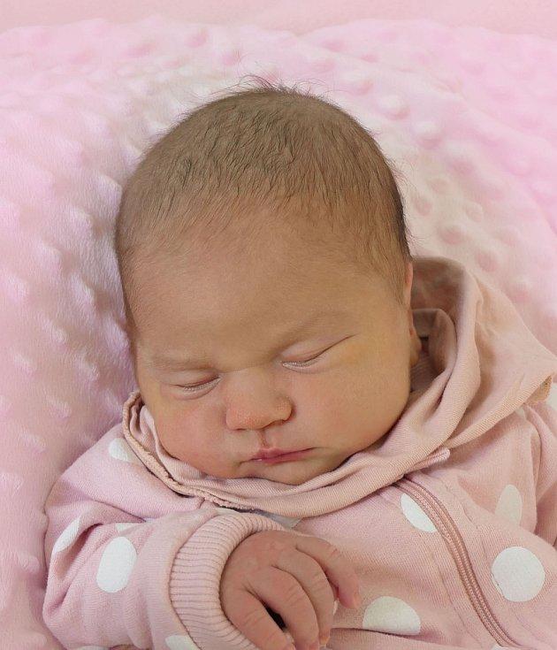 Beáta Dvouletá, Polešovice, narozena 28. dubna 2021 v Uherském Hradišti, míra 49 cm, váha 3620 g