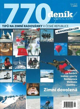 Přebal katalogu 770tipů na zimní radovánky vČeské republice.