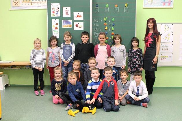 1. B paní učitelky Jarmily Málkové, Základní škola Strání