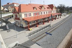 Nádraží ČD v Uherském Brodě.Ilustrační foto.