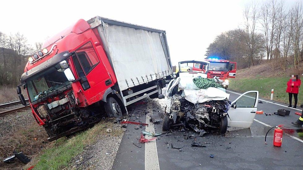 Tragická nehoda u Uherského Brodu - 14. dubna 2020