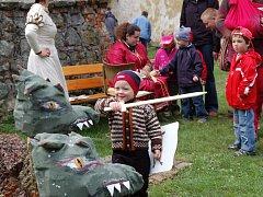 Pro děti bylo na Buchlově připraveno plno překvapení, her a soutěží.