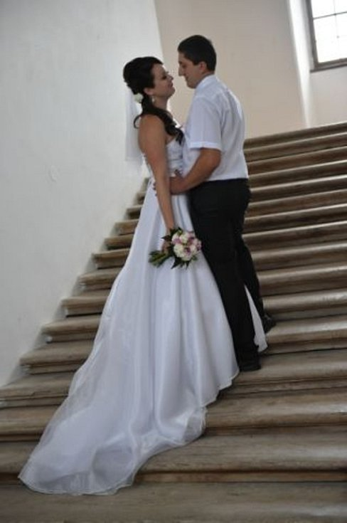 Soutěžní svatební pár číslo 283 - Petra a Tomáš Boudovi, Brodek u Prostějova.