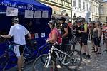 Letního otevírání cyklostezek se účastnilo na 600 lidí. Start i cíl byl na Masarykově náměstí v Uherském Hradiště.