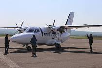 50. výročí prvního vzletu letadla L 410 na letišti v Kunovicích.archiv Let Kunovice