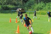 Fotbalového kempu v Horním Němčí se od 7. do 12. července účastnilo šestnáct mladých fotbalistů.