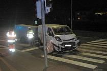 Dopravní nehoda v Uherském Brodě, ve směru na Nivnici.