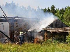 Požár ve Stříbrnici.