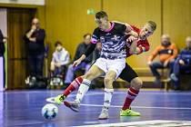 Futsalista Uherského Hradiště Ondřej Čtvrtníček se proti Mělníku prosadil hned dvakrát. Bazooka přesto prohrála 4:7.