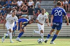 FC Baník Ostrava vs. FC Slovácko, (zleva) Sadílek Lukáš, Milan Baroš. Ilustrační foto