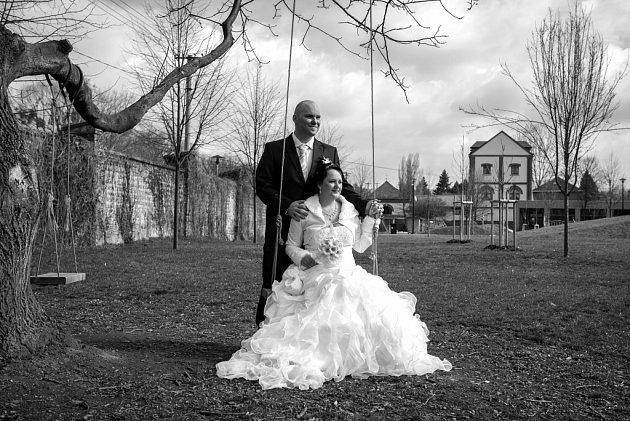 Soutěžní svatební pár číslo 18 - Michaela a Milan Kolářovi, Mrsklesy.