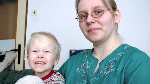 Kristýna Čevelová se synem Jiříčkem.