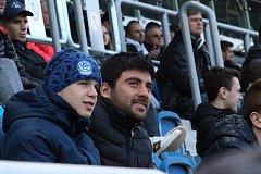 Zranění fotbalisté Slovácka Patrik Hellebrand (na snímku vlevo) a Gruzínec Irakli Sikharulidze.