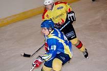 Úplně poslední branku Uherského Ostrohu v letošním ročníku krajské ligy vstřelil ve vítězném utkání o 3. místo proti Plumlovu útočník Lukáš Kašný (nahoře).