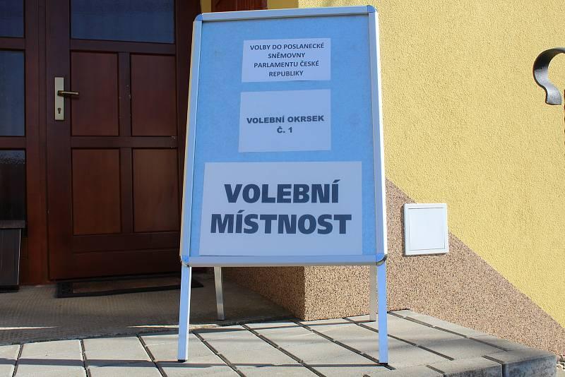 Volby 2021 v Hostějově.