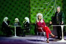 Slovácké divadlo uvádí ve světové premiéře adaptaci románu Toma Robbinse Vžabím pyžamu.