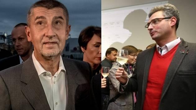 Zleva: z volebních štábů ANO 2011 a KDU-ČSL