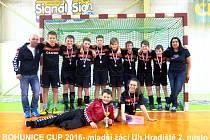 Mladší žáci Slovácké Slavie vybojovali na turnaji v Bohunicích 2. místo.