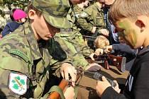 Na Masarykově náměstí bylo k vidění vybavení české armády.