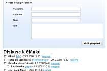 Diskuze na internetu ke kauze paní azlového domu a paní Janků.