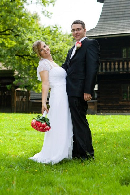 Soutěžní svatební pár číslo 177 - Adéla a Martin Opletalovi, Prostřední Bečva.