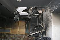Požár kuchyně v Uherském Ostrohu