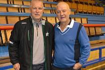 Na ostrožském ledě fanoušci uvidí mimo jiné i Jiřího Hrdinu a Pavla Richtra (vpravo).