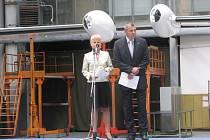 Ing. Pavel Vach, předseda představenstav Aicraft Industies, a. s. a Ilona Plšková, generální ředitelka společnosti Aircraft Industries, a. s.