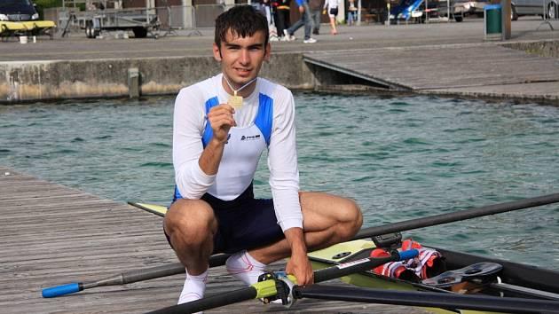Veslař Michal Plocek. Ilustrační foto z roku 2012.
