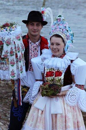 Soutěžní pár číslo 15 - Zuzana Strachotová a Antonín Bouřa, Uherský Ostroh, stárci na hodech 11.-13.října.