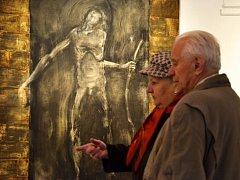 Anna Sypěnová a Vilém Velecký, výstava světlo a stín v Galerii panský dům Uherský Brod.