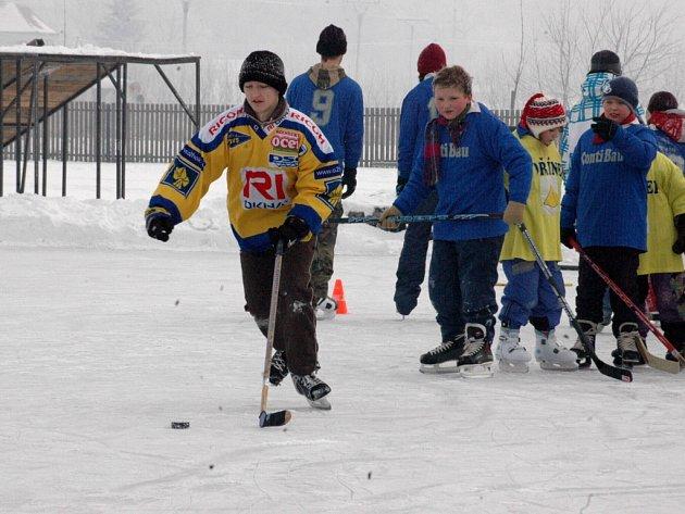 Hokejový turnaj dětí do patnácti let byl součástí akce s názvem Neděle na ledě, která se uskutečnila o uplynulém víkendu ve sportovním areálu v Babicích.