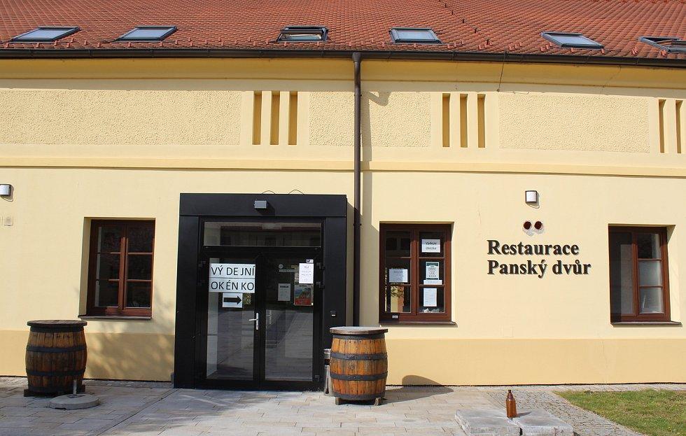 Restaurace Panský dvůr v Kunovicích.