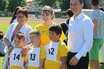 Atletický stadion v Uherském Hradišti hostil olympiádu dětí z mateřských škol.