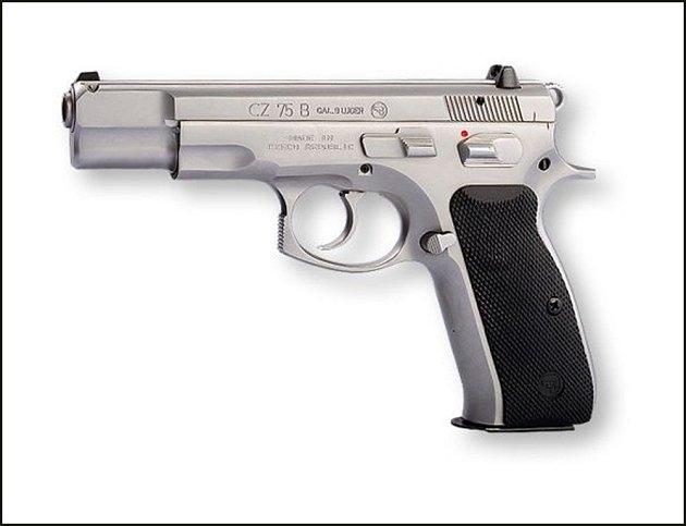 Jedna ze zbraní, kterou se střílelo v restauraci Družba: Samonabíjecí pistoleCZ 75B.