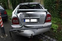 Dopravní nehoda v Uherském Brodě.