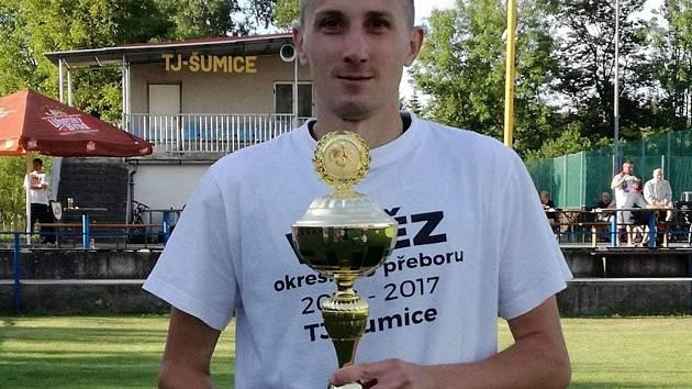 Šumický fotbalista Stanislav Pilka nastřílel na podzim v I. B třídě skupiny C jedenáct gólů.